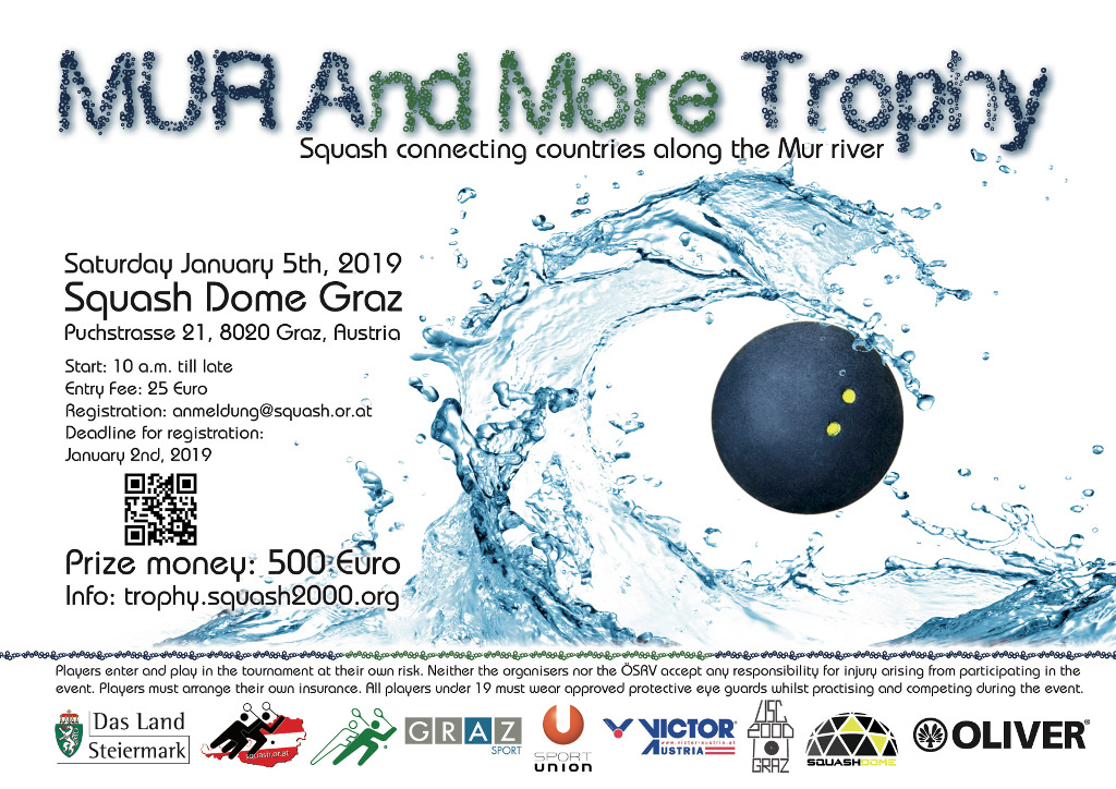 Squash Mur And More Trophy 2019 Graz - Official Tournament Poster