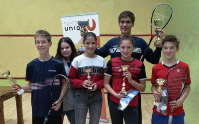 Medaillenregen für den USC 2000 bei den Squash Salzburg Junior Open 2019